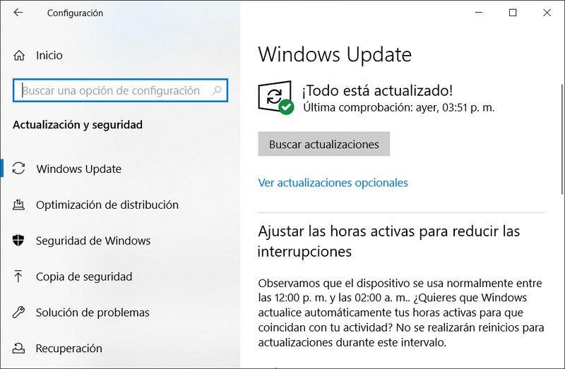 Instalar actualizaciones Windows 10