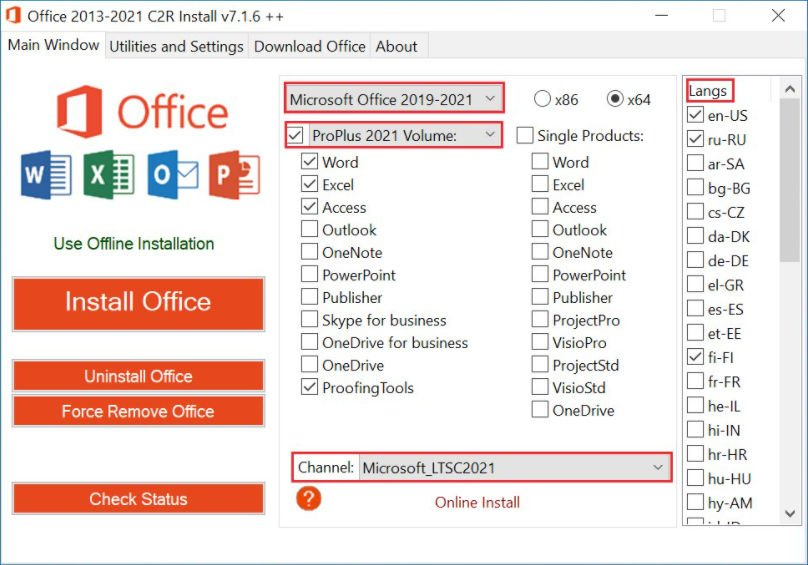 Office C2R Install