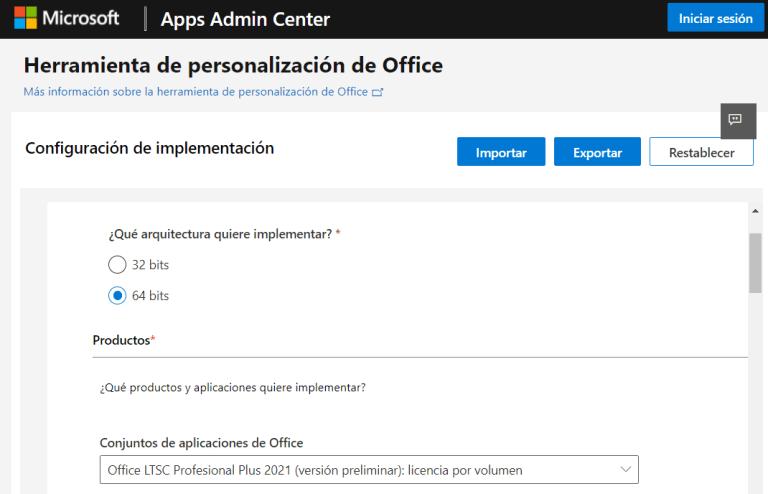 Personalizar instalación de Office 2021 en Windows