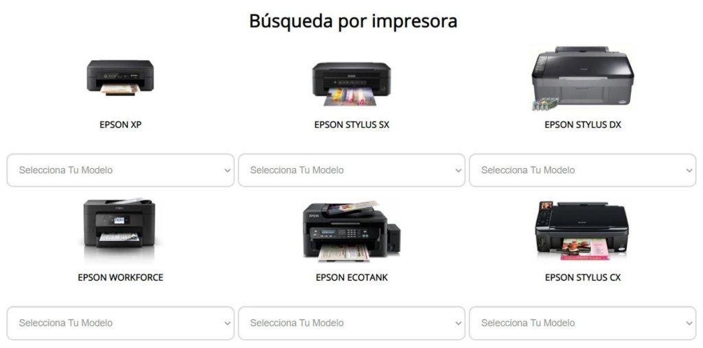 Modelos de impresora Epson