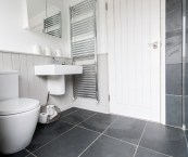 slate floor in bathroom