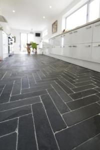 Slate Floor Tiles and Flooring in Black, Grey and Cinza