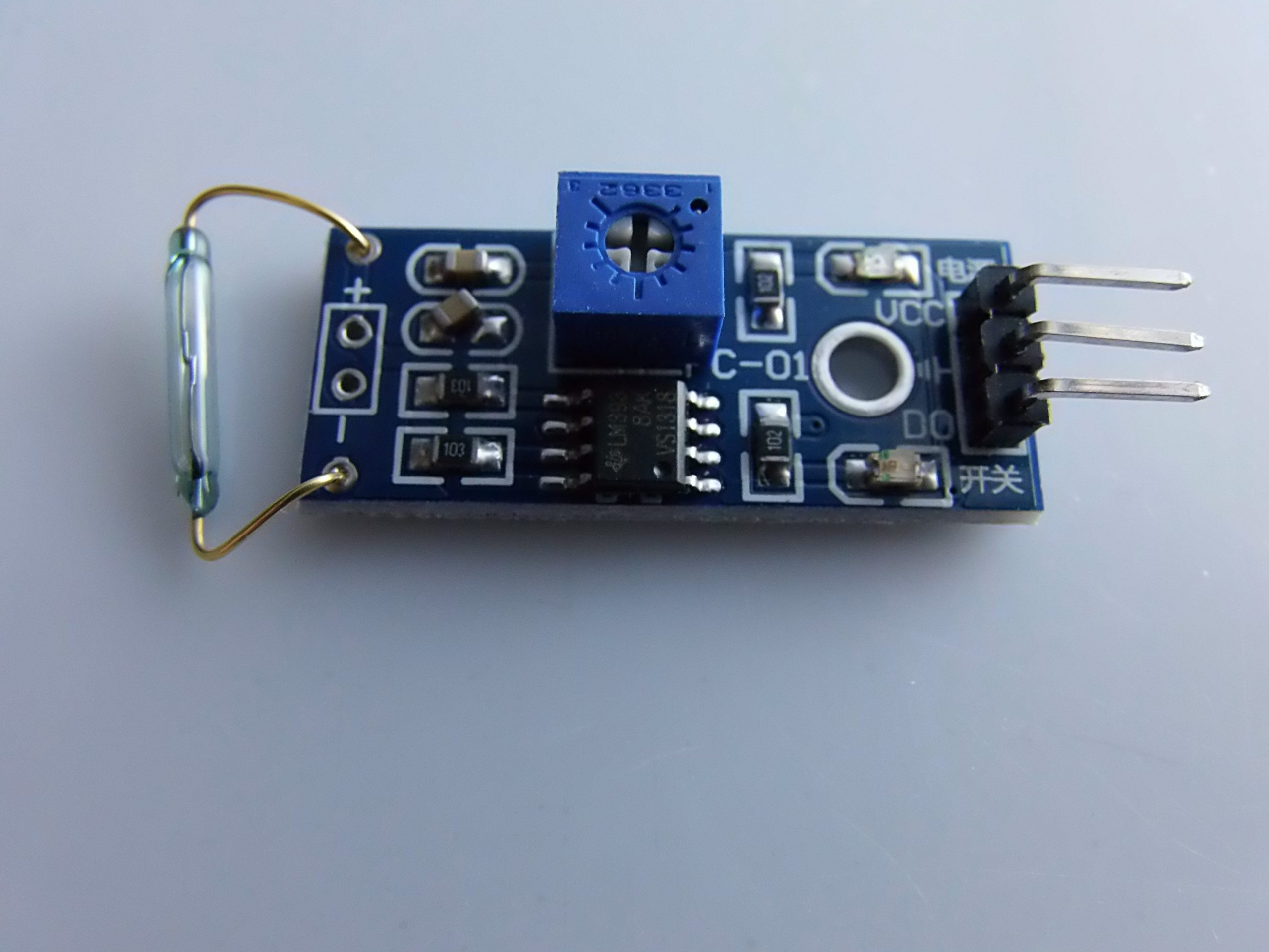Sensore Reed modulo magnetron module switch MagSwitch Magnetico Arduino