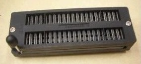 3MM black silver plated 40P locking Block, 40P live seat, 40PIC test seat, universal test blocks, IC Test Socket