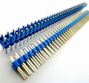 4 Pezzi Blue 2*40 2.54 in rame placcato in oro, Maschio pin header