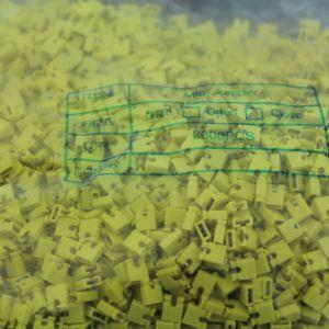 2000 Pezzi yellow short block, Short-circuit block, the jumper cap,2.54 connection block
