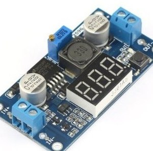 Regolabile 4.0-40V to 1.25-37V 5/12V DC LM2596 Voltaggio Regolatore Experimental Power Buck Convertitore+LED Voltmetro