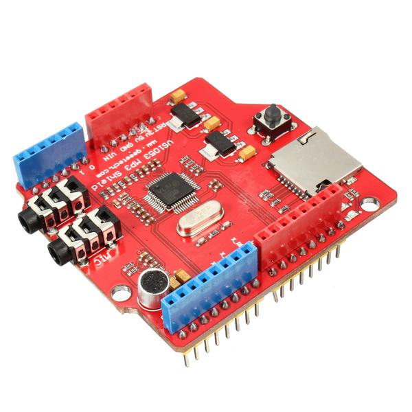 VS1053 shield board MP3 Music shield with TF card slot work per Arduino