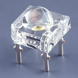 4 Pezzi Led Bianco SuperFlux Piranha 5mm Alta Luminosità