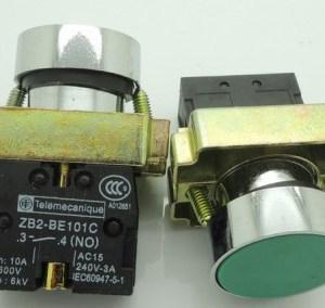 Normally open green XB2 - BA31C/flat bottone - ZB2 - BE101C