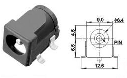 3 Pezzi DC 5.5*2.1MM DC-050 Power Adattatore Socket