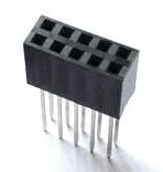 5 Pezzi 2*5 2.54mm Long Pin Header Femmina Connettore Plug