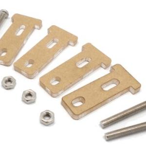 TT gear Motore mounting bracket with T-head screw nut M3 * 30 Smart car Telaio acrylic floor 4T-Head + screws + nut