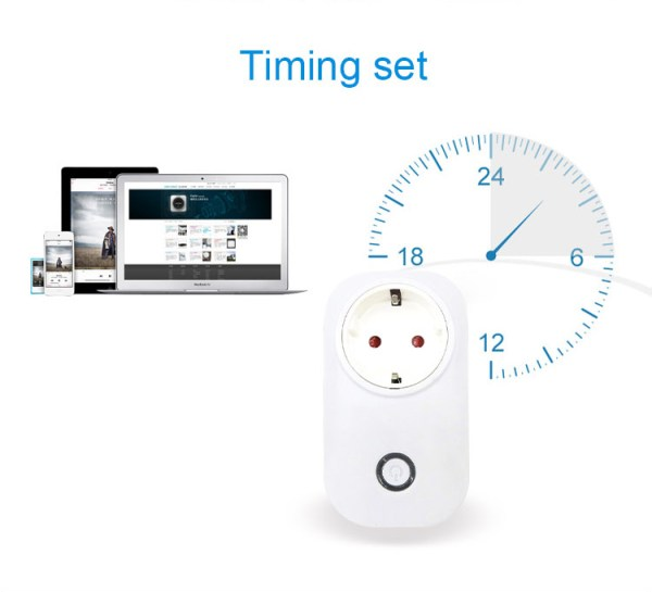 EU Standard Wifi Smart Phone App Socket Timed Remote Wireless Controllo Remoto Pulsante S20