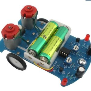 D2-5 Intelligent Tracing Car Kit Inspection Line Car Experiment Parts Electromechanical Assembly Electronic Assembly DIY (It is