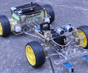 DIY Robot Car Telaio , Only the Telaio+Motore+ Ruota+Servo , Without others Components