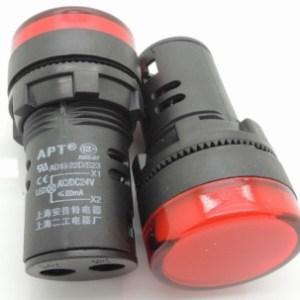 Spia luminosa da pannello Rossa AD16-22D/S 24V Foro 16MM