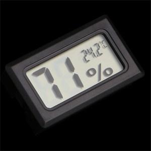 Misuratore Digitale LCD Temperatura Umidità Termometro Igrometro Vivarium Reptile
