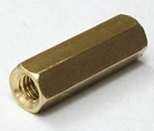 Cilindro in ottone esagonale da 15 pezzi da 10 pezzi - dorato
