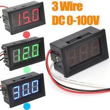 Voltmetro rosso 0,56 '' 3 fili DC0-100V LED Display digitale pannello di tensione voltmetro