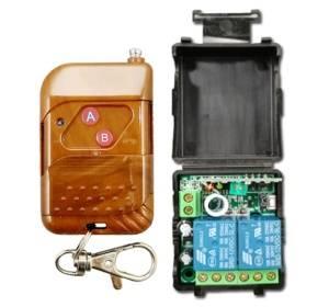 DC12V Ricevitore relè codice apprendimento a 2 canali + trasmettitore telecomando wireless professionale 433MHz