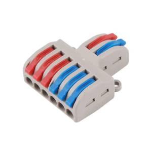 Connettore SPL-62 per cavo AWG 28-12 2 in 6 out universale compatto Leva push-in veloce