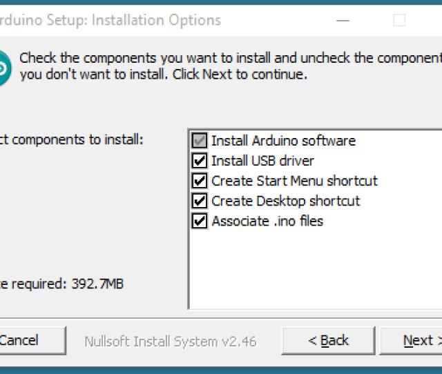 Choose The Components To Install