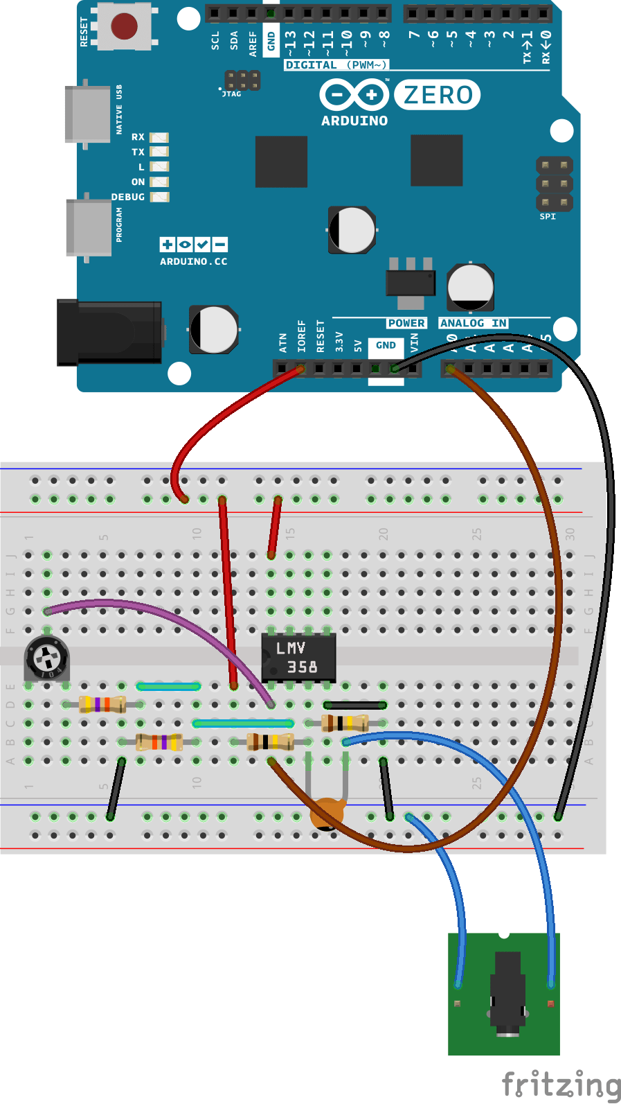 Amp Input Jack Wiring Diagram Arduino Simpleaudiofrequencymeter
