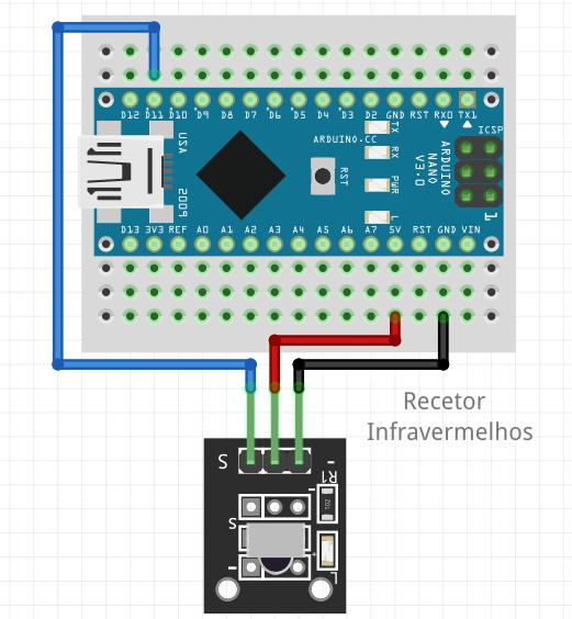 Esquema utilizado para o sensor infravermelhos no projeto