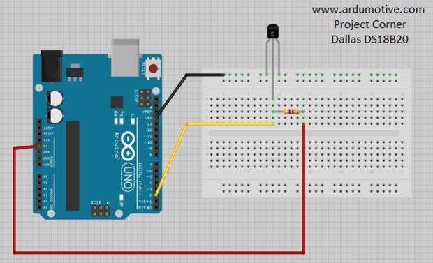 Arduino Tutorial How to use the DS18B20 Temp Sensor - Ardumotive Arduino Greek Playground