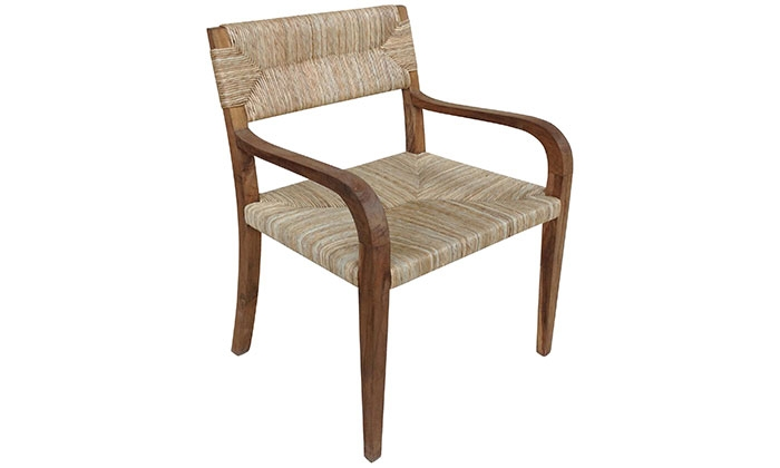 seagrass arm chair designer covers to go bromley area houston antiques furniture teak and armchair teakandseagrassarmchair