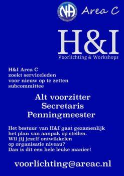 H&I Area C zoekt serviceleden!