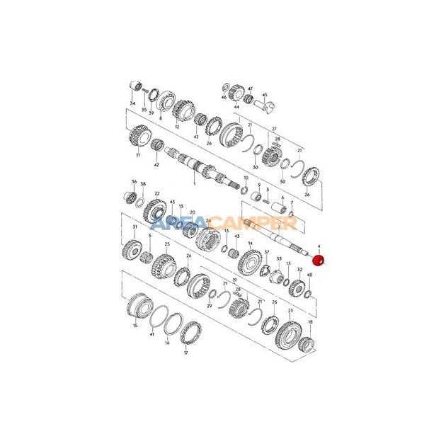 Retén de eje primario caja de cambios manual VW T1, T2, T3