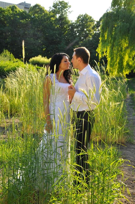 Жанровая свадебная фотография. Свадебные гуляния по территории Центрального ботанического сада им. Гришко. Автор Сергей Рыжков