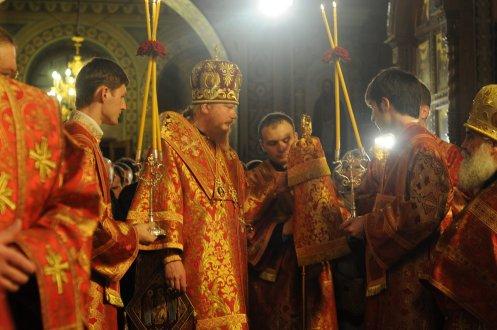 Фоторепортаж из Свято-Троицкого Ионинского монастыря о праздновании Светлого праздника Пасхи 71