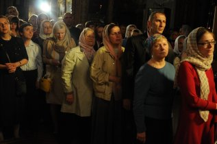 Фоторепортаж из Свято-Троицкого Ионинского монастыря о праздновании Светлого праздника Пасхи 240