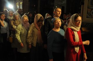 Фоторепортаж из Свято-Троицкого Ионинского монастыря о праздновании Светлого праздника Пасхи 241