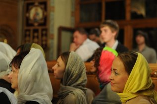 Фоторепортаж из Свято-Троицкого Ионинского монастыря о праздновании Светлого праздника Пасхи 246