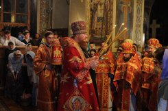 Фоторепортаж из Свято-Троицкого Ионинского монастыря о праздновании Светлого праздника Пасхи 464