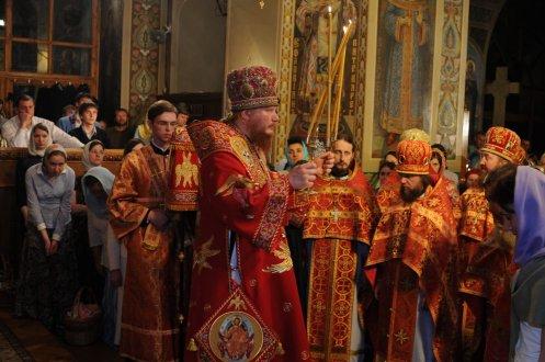 Фоторепортаж из Свято-Троицкого Ионинского монастыря о праздновании Светлого праздника Пасхи 468