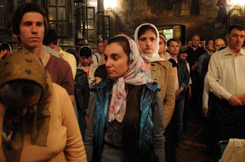 Фоторепортаж из Свято-Троицкого Ионинского монастыря о праздновании Светлого праздника Пасхи 509