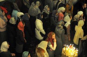 Несколько фотографий с Рождественской службы из Свято-Троицкого Китаевского мужского монастыря. 4