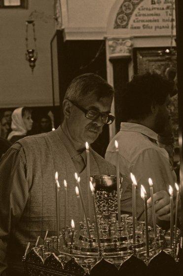 Несколько фотографий с Рождественской службы из Свято-Троицкого Китаевского мужского монастыря. 30