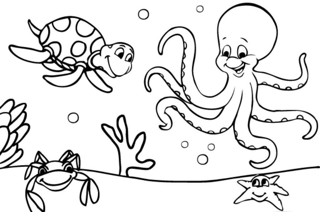 Dibujos de animales marinos para colorear