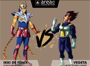 Ikki de Fênix (Cavaleiros do Zodíaco) vs. Vegeta (Dragon Ball)