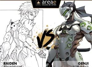 Raiden (Metal Gear Solid) vs. Genji (Overwatch)