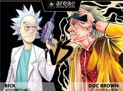 Rick (Rick and Morty) vs. Doc Brown (De Volta Para o Futuro)