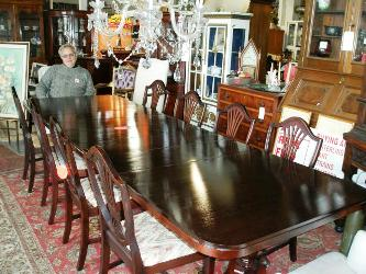 solid wood dining room table and chairs swivel chair en fr a real find antiques carroll county md antique mahogany sets shield back ...