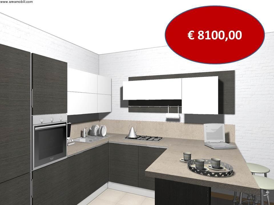 Cucina angolare con penisola Carrera go Veneta cucine euro 8100