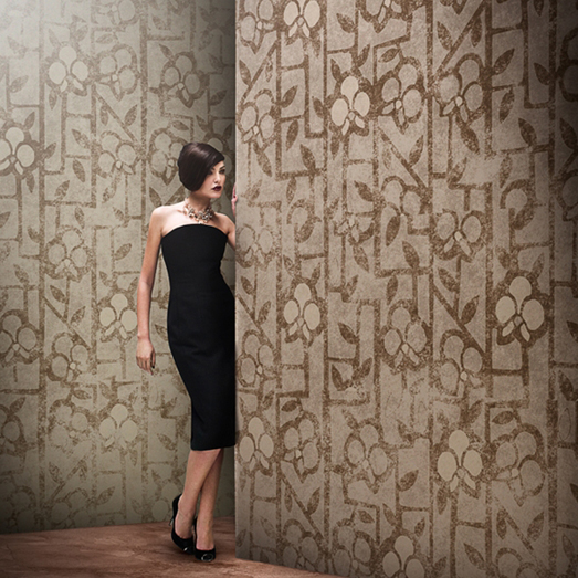 All these artistic designs are cleverly turned into a vertical wall pattern, with truly original visual effects. Gio Pagani Collection
